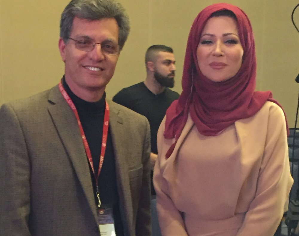 Ziyad with the one-and-only Khadeejah Benguenna from Al Jazeera, at American Muslims for Palestine International Conference 2016
