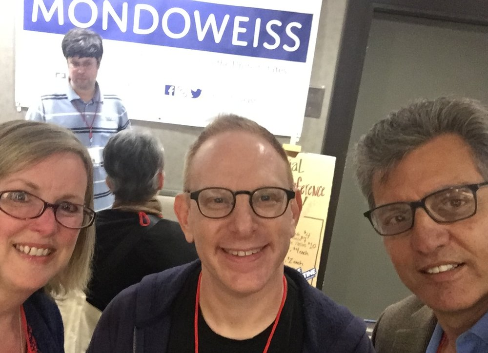 Got to meet Adam Horowitz, co-editor of Mondoweiss, at the US Campaign for Palestinian Rights conference, fall 2018