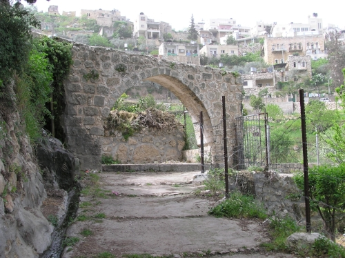 Ancient Roman arch in Battir