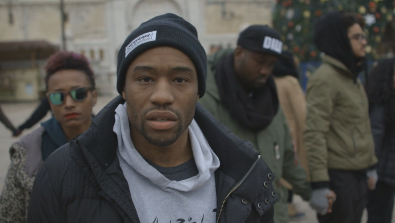 Marc Lamont Hill, in Nazareth 2014. screenshot from Vimeo video.