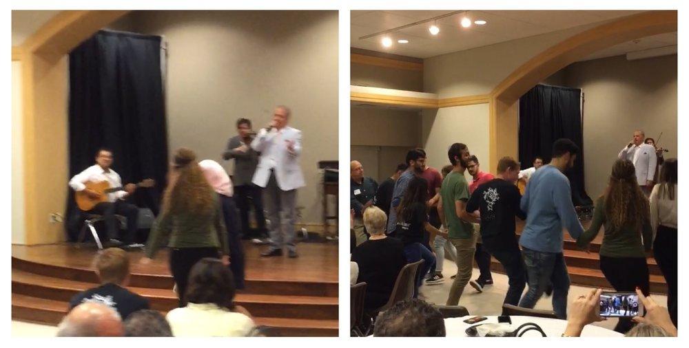 It's not a Palestinian gathering without dabke!