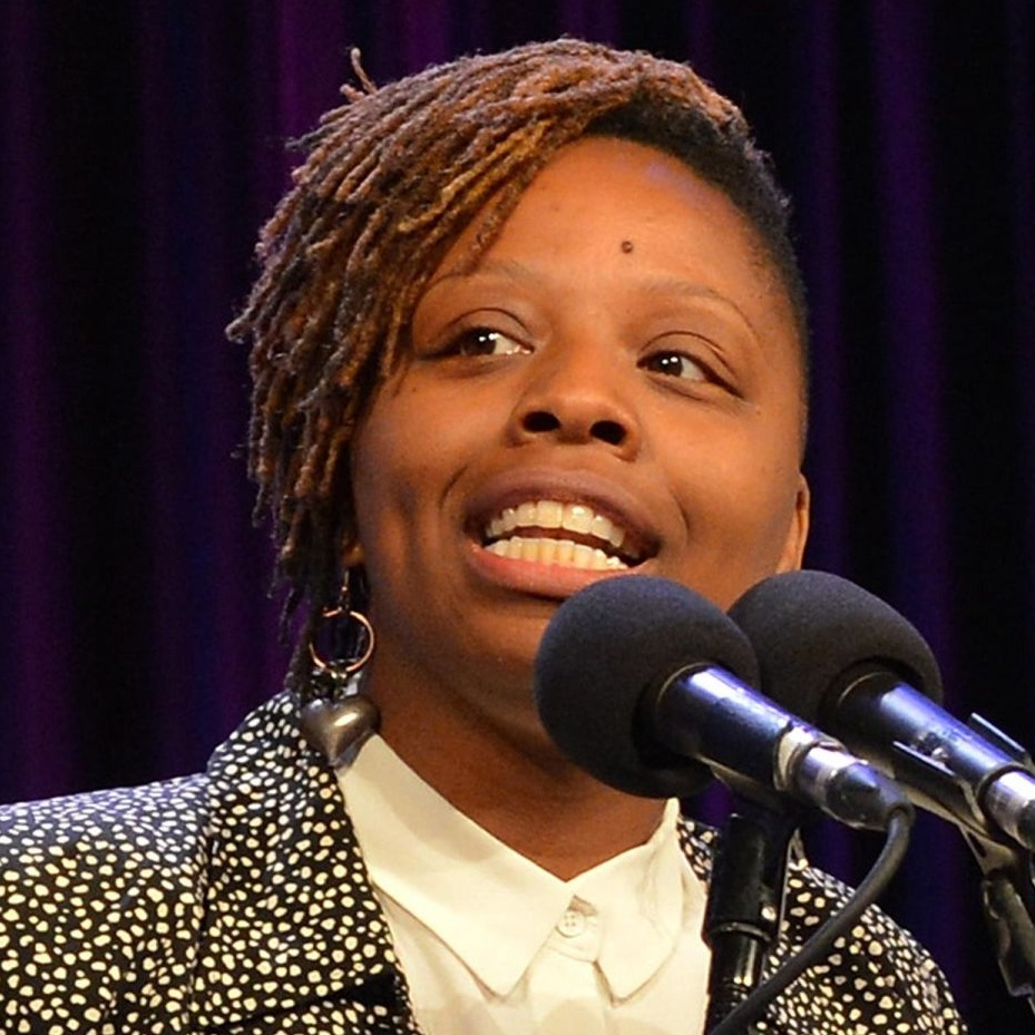 Patrisse Cullors speaks at the New York Women's Foundation, 2015.  (Slaven Vlasic/Getty Images)