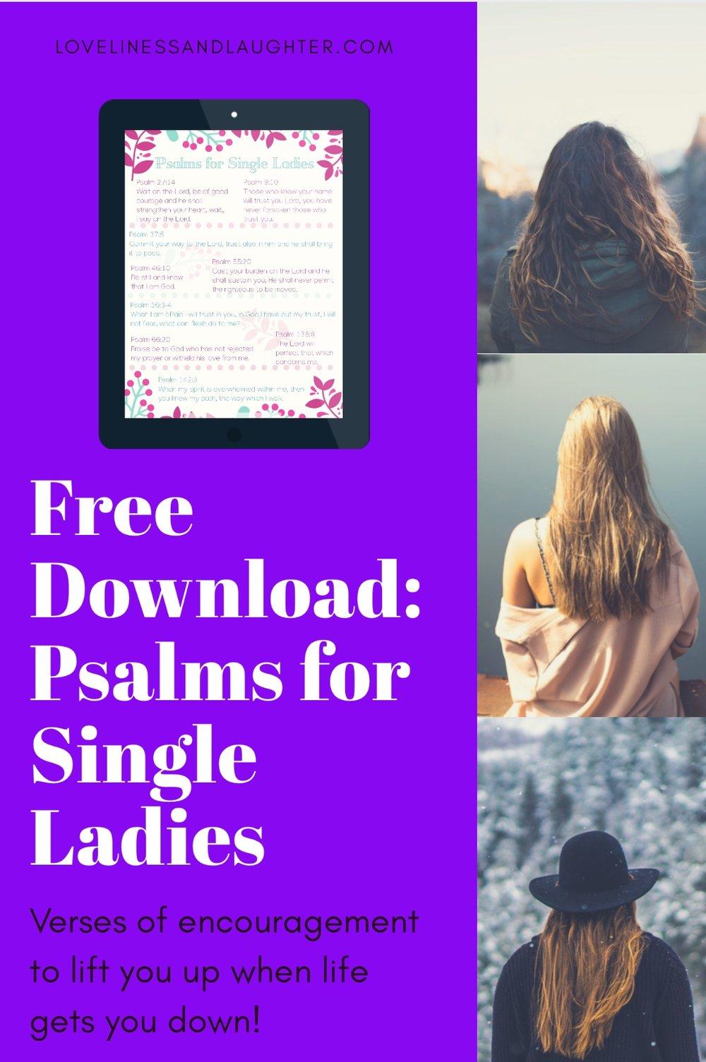 free download verses to encourage single women