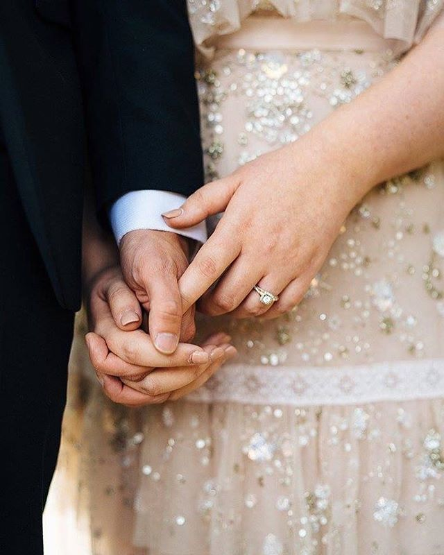 """I get misty just holding your hand ~ Today marks one year since our """"big wedding"""" and over 18 months since we got married! This time of year will always be so precious to my heart, it was so special to have so many of our favorite people in one place! Today we're reflecting on this incredible week and wishing we could relive it all again💗 ~ fun fact: we walked back down the aisle to The Cure - Friday I'm in Love 💫 📷: @hannahelizabethstories . . . #fujifilm #fujifilmxt20 #agameoftones #dallasphotographer #dallasblogger #dallaswomen #DFWBlogger #mckinneyphotographer #photography #unsplash #lightroom #wedding #marriage"""