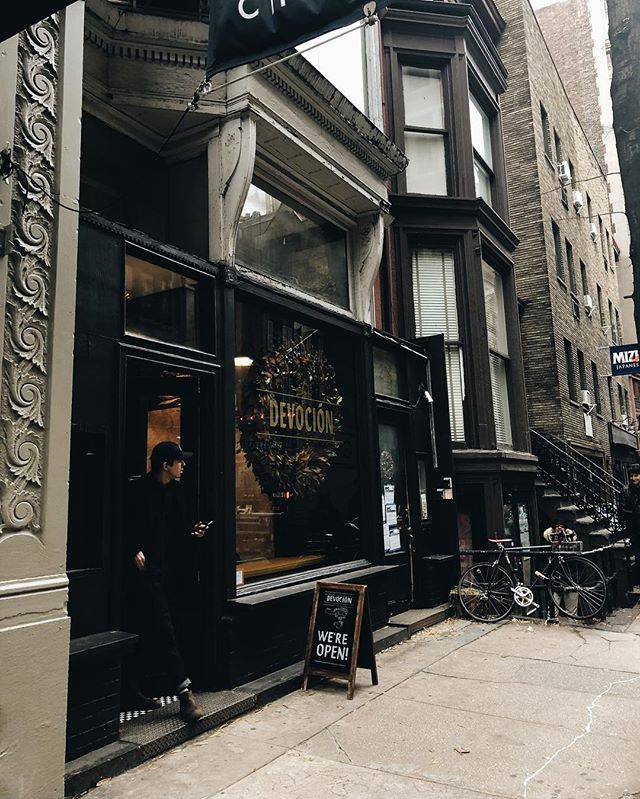 stoked to move to nyc and find more coffee shops like this in twenty nineteen . #newyorkcity