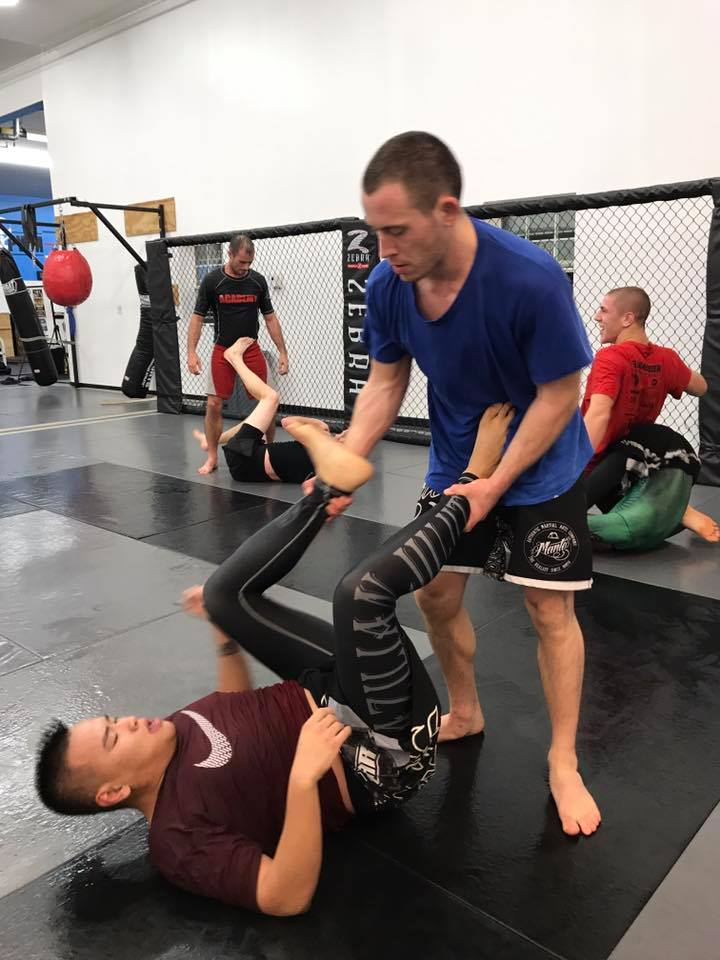 Dan O'Connell   Dan started training at the Academy in the spring of 2013. He mostly trains jiu jitsu but will take an occasional Muay Thai class when his schedule allows.  He currently holds a blue belt in jiu jitsu and started teaching the On Ramp class about two years ago.  When he is not in the gym, Most of his free time is spent hiking and fishing in the summer.