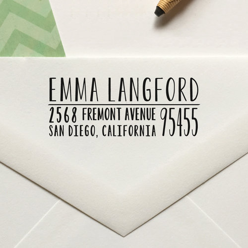 personalized return address stamp no 50 lulu paperie