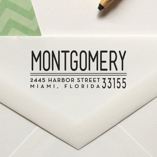 personalized return address stamp no 70 lulu paperie