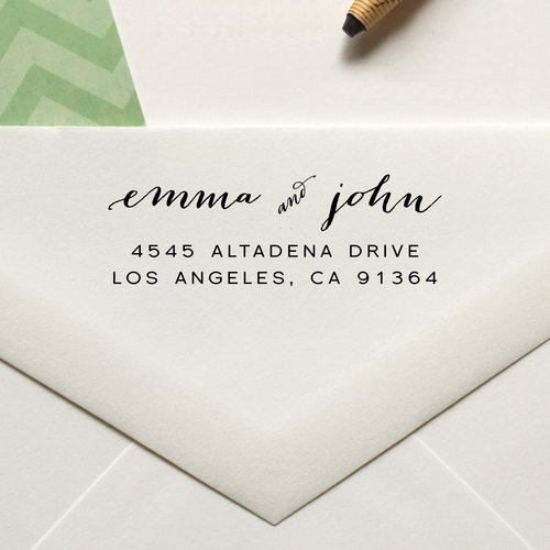 personalized return address stamp no 73 lulu paperie