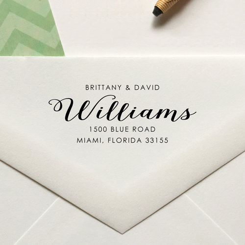 personalized return address stamp no 90 lulu paperie