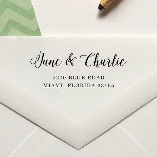 personalized return address stamp no 91 lulu paperie