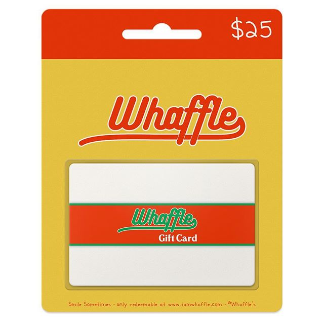 In a hurry? We've got you covered. Give the perfect present every time with just the click of a mouse: always the right size, always their favorite colorway. Simply select the amount and we will email the lucky recipient within 24 hours. Our e-gift cards are only redeemable at www.iamwhaffle.com.