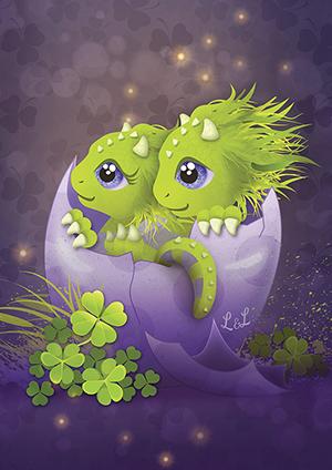 Roar-geboortekaartje-roar-draakje-sprookje-ei-paar-groen-baby-by-xantifee1.png