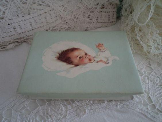 blauw karton doopsuiker doosje meisje vintage xantifee