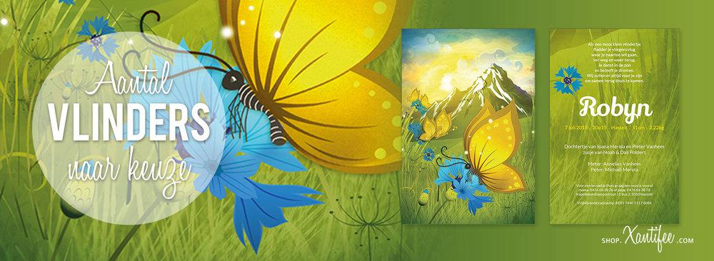 second-image-geboortekaartjes--by-Xantifee-geboorte-vlinder-bergen-natuur-leven-bloemen-zomer-lente-korenbloem-blauw-wintersport-skieën-snowboarden.jpg