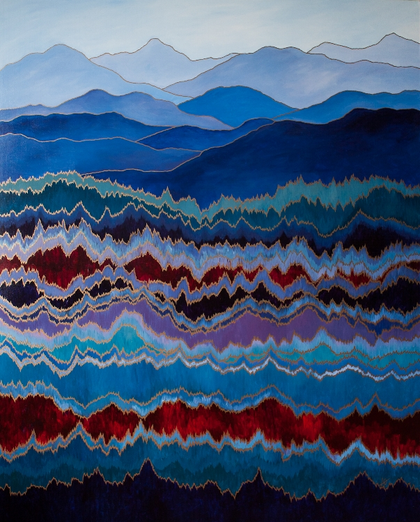 "MOUNTAIN PULSE    acrylic on canvas    Size:  48"" x 60"""