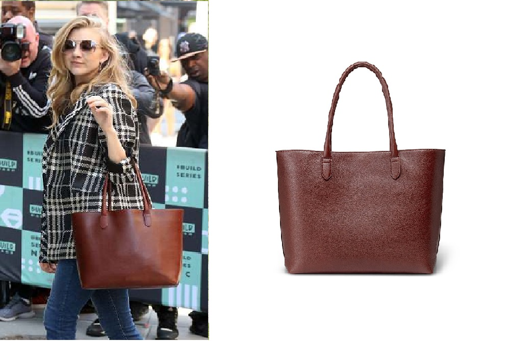 Linjer's Soft Tote ($359) spotted on the arms of Natalie Dormer.
