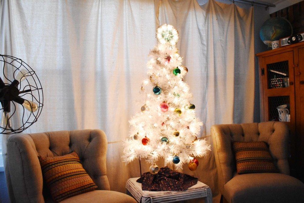 vintage shiny brite tree