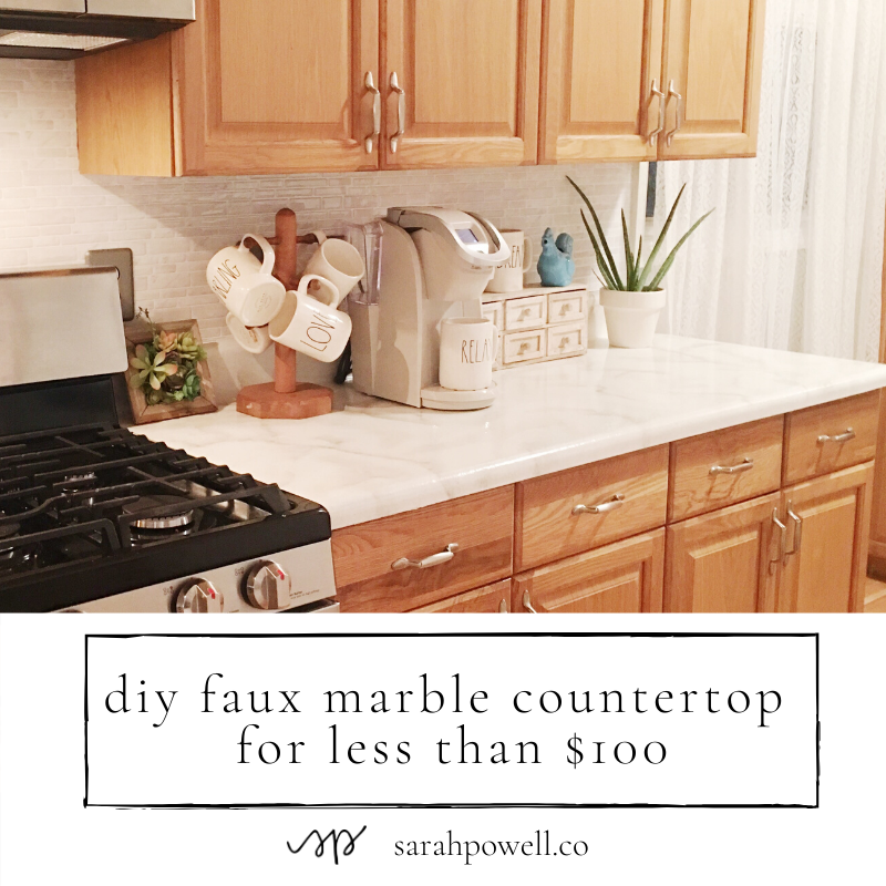 Superbe Faux DIY Marble Countertops For Under $100