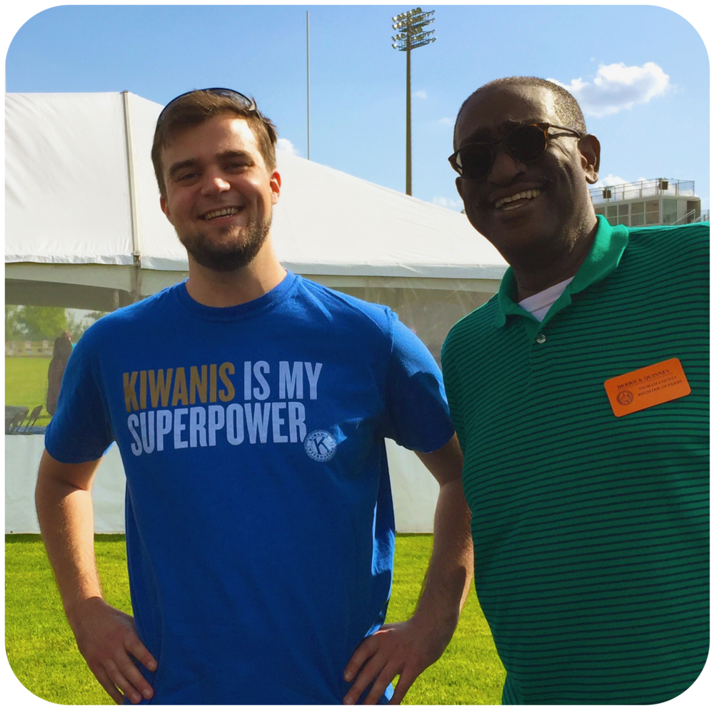 Chris volunteering at the Holt Relay for Life with his friend and mentor, Derrick Quinney.