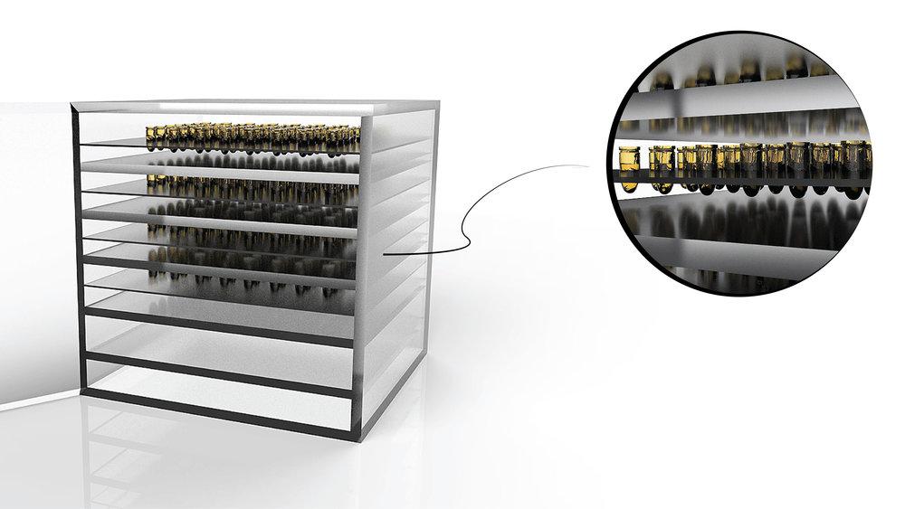 Gene storage system rendering.