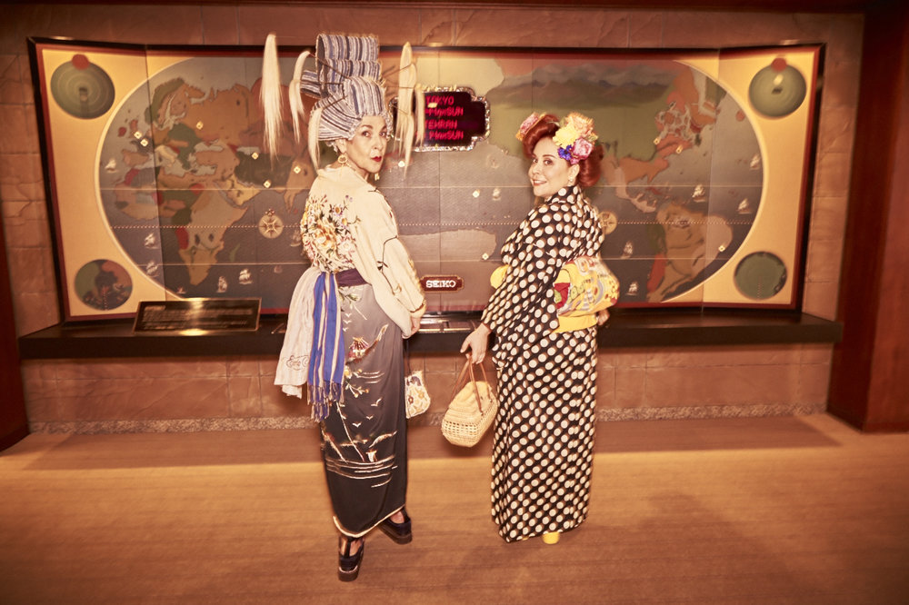 Tziporah and Nicole in their vintage kimonos.