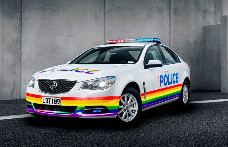 This frees up the police to do more important things, like  spending $10,000 on a gay patrol car