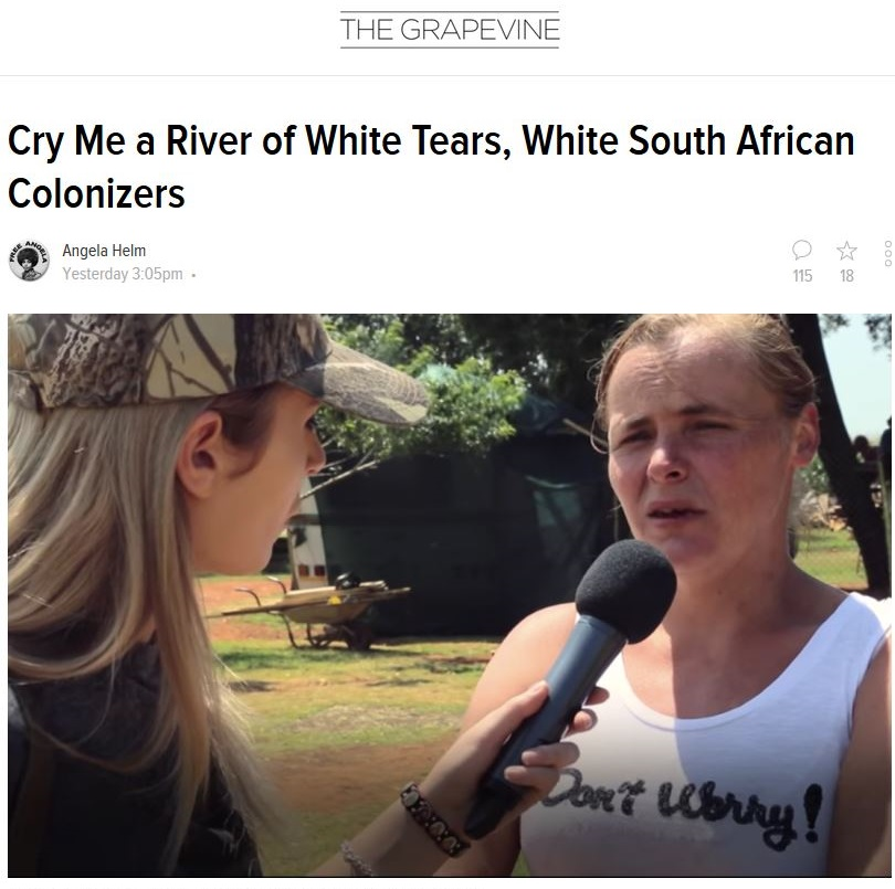 Meanwhile, leftists in the West gloat over the mutilated bodies of dead Boers.