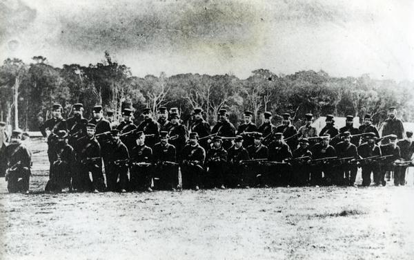 Captain Walter Perry's Masterton Militia, 1866.