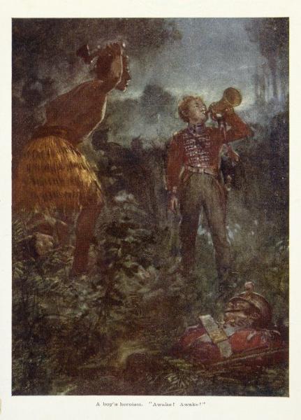 "A Boy's Heroism: ""Awake! Awake!"", painted by Arthur McCormick"