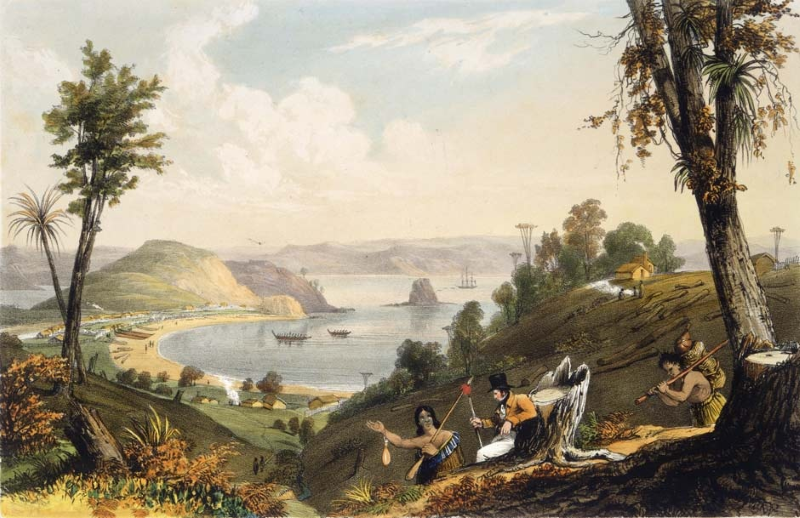 The good times in Kororareka, as painted by Augustus Earle