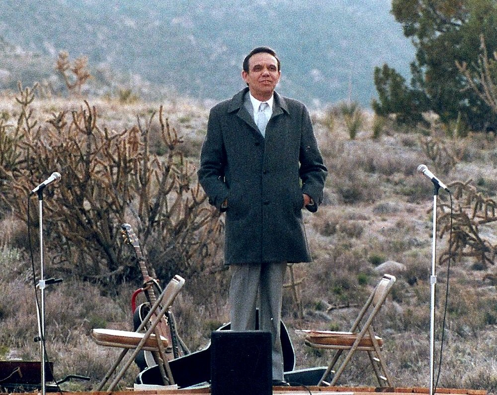Dr. Larry Morris on Earth Day 1990, speaking on global forgiveness