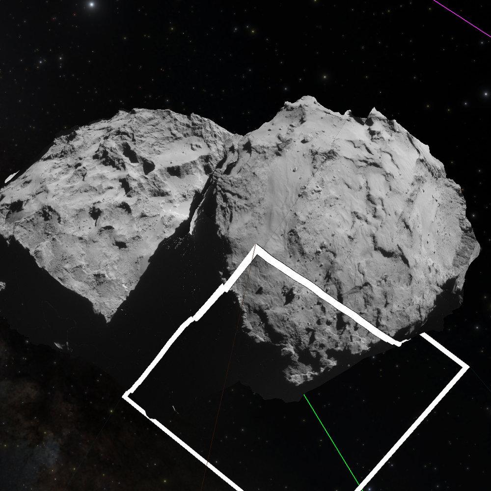 Projecting Rosetta's NAVCAM images onto the 67P/Churyumov–Gerasimenko