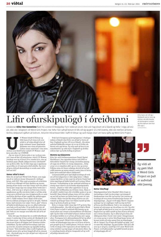 Fréttatíminn newspaper, Iceland, February 2011