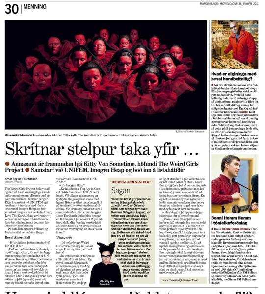 Morgunblaðið Newspaper, Iceland, January 2011
