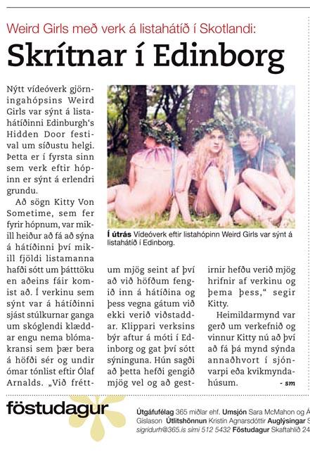 Frettablaðið newspaper, Iceland, October 2010