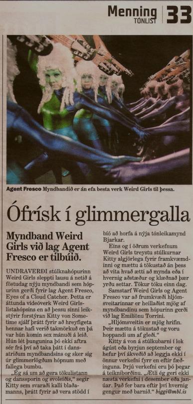 Morgunblaðið newspaper, Iceland, July 2009
