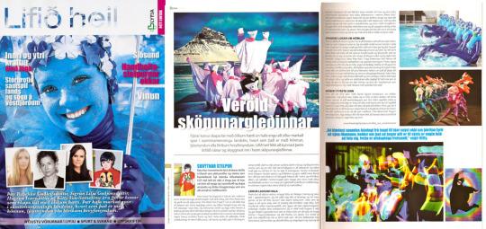 Lifið Heil magazine, Iceland, July 2010