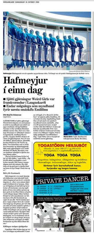 Morgunblaðið newspaper, Iceland, October 2008