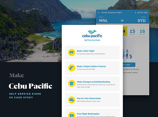 New work at @make.technology! Our UX project with Cebu Pacific—a new Self Service Kiosk. View our case study on https://blog.make.technology