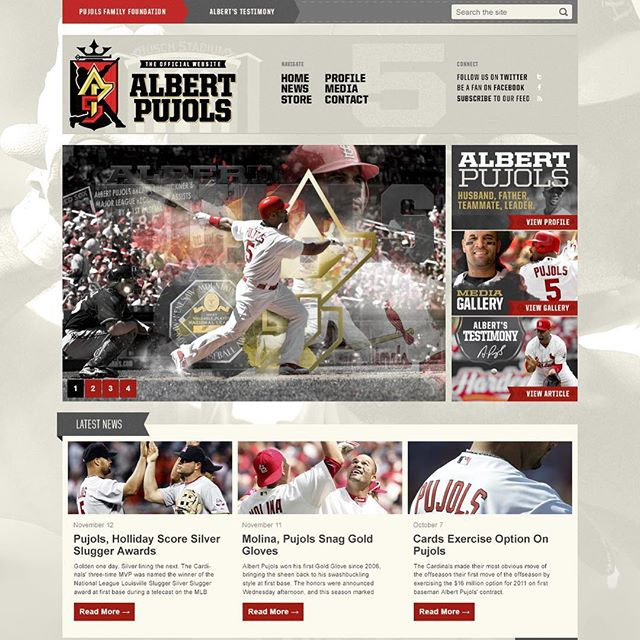 The project that got me started working with some of the best athletes on the planet. Who better to design for than future Hall of Fame baseball player, Albert Pujols (@albertpujols). It's truly an honor to design Albert Pujols' official player logo, along with his official website, in the summer of 2010.