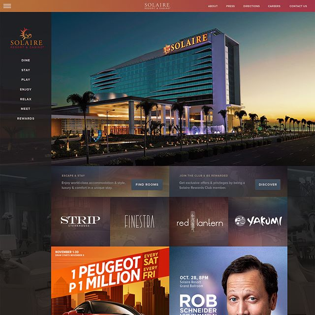 I was approached by @SolaireResort in 2014 to redesign their website and blog, as well as their parent company's website.
