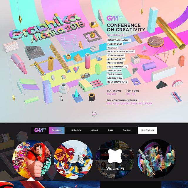 I've designed and developed various websites for @GraphikaManila, as well as their logotype.