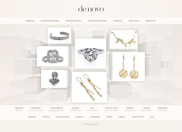 @DenovoDiamonds is a homegrown jewelry brand, that approached me in 2013 to come up with their initial strategy and brand name, as well as to design their logo and branding, e-commerce store, brand bible, business cards, and various in-store materials.