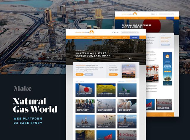 New work at @make.technology : a case study of our redesign for Natural Gas World - the leading platform dedicated to delivering the most essential information on global gas matters. 👉🏽 https://blog.make.technology