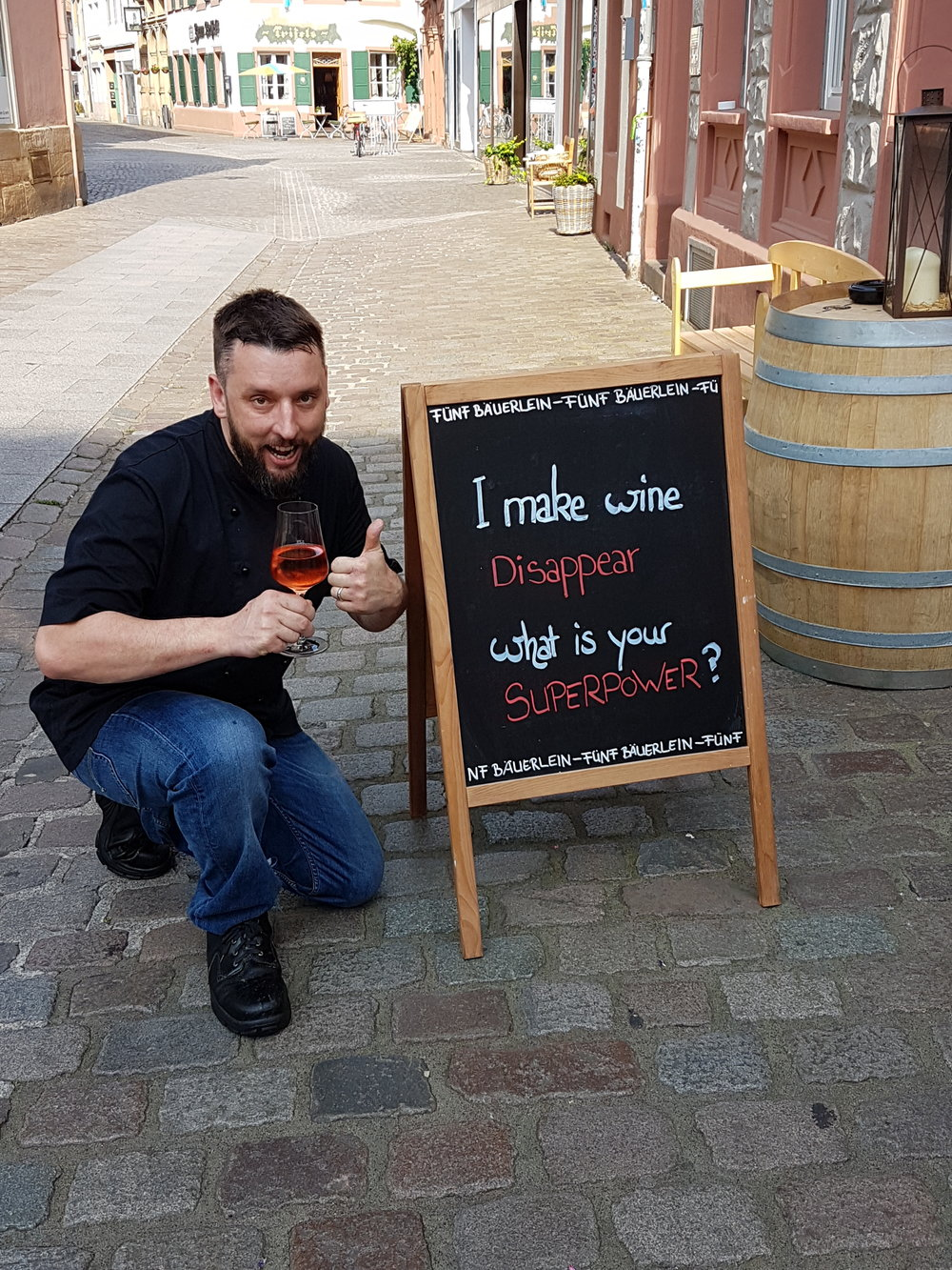 Fünf Bäuerlein - Weinsprüche