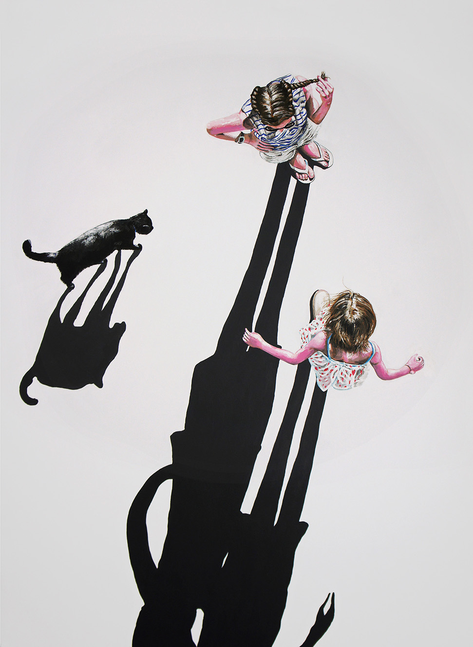 Le chat noir (111x145cm)
