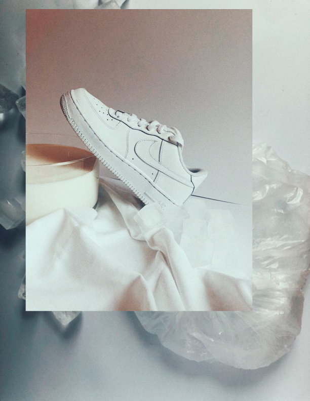 I COULD GO THROUGH 10 PAIRS A YEAR, EASILY. THE   NIKE AIR FORCE ONE   IS THE CLASSIC FOR ME AND I CAN PAIR IT WITH ANYTHING. A DRESS AND WHITE TENNIS SOCKS OR JUST A PAIR OF SWEATPANTS, THEY JUST GO WITH EVERYTHING. - J