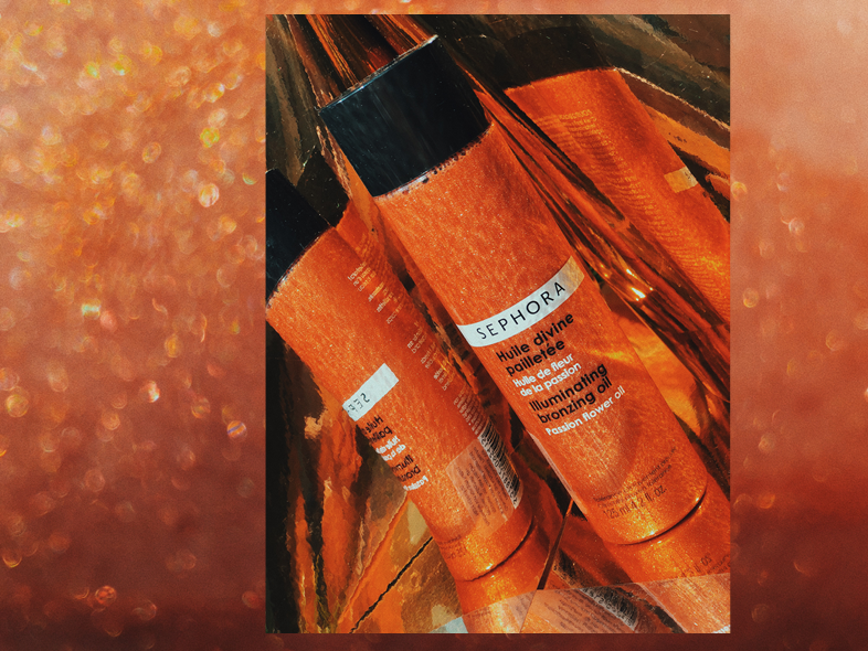 SHINE BRIGHT WITH THIS ONE: THE ILLUMINATING BRONZING OIL  FROM SEPHORA WILL GIVE YOU THE SPARKLES WHEN YOU NEED THEM. AND WHEN YOU DON'T NEED THEM? PUT IT ON ANYWAYS. -T