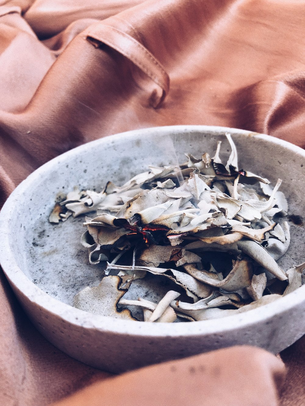 OMG - I ABSOLUTELY LOVE  WHITE SAGE . I ADORE THE SCENT AND WHAT IT DOES. AS YOU MIGHT KNOW SAGE IS CONSIDERED SACRED AND IS USED FOR PURIFYING, CLEANSING AND PROTECTION.  IT WARDS OFF BAD SPIRITS AND NEGATIVE ENERGY SO EVERY TIME AFTER I CLEANED MY APARTMENT, I LIGHT IT UP IN A LITTLE BOWL AND WALK TROUGH MY PLACE AND HAVE IT CLEARED. IT'S A WONDERFUL FEELING. -T